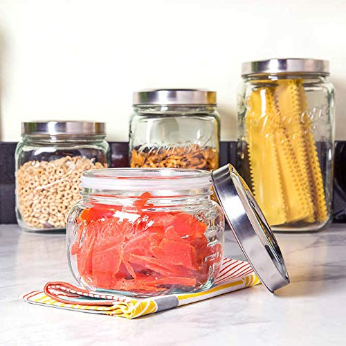 Mason 4-piece Glass Canister Set