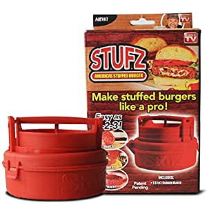As-onTV Stufz Stuffed Burgers Press Sealed Sliders Regular Burgers Patty Maker BBQ Grilling and Gourmet Kitchen Tool
