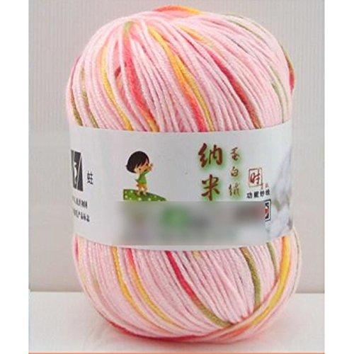 1Pcs: Rose m/élang/é HuaYang Couleur m/élang/é fil /à tricoter laine cosy fil de laine pour tricoter /à la main