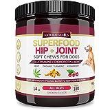 Natural Genius Hemp Hip & Joint Supplement for Dogs | 180 Soft Chews Treats - Glucosamine, Chondroitin, MSM, Turmeric, Hemp & Konaberry | Arthritis Support & Pain Relief for Senior Dogs - All Breeds