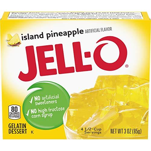 Jell-O Island Pineapple Gelatin Mix 3 Ounce Box (Pack of 6)