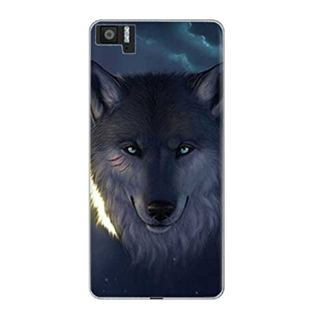 Deesos BQ Aquaris M5 Funda Printing Slim Soft TPU Full Protection Carcasa Flexible Anti-Scrath Funda for BQ Aquaris M5 Lobo