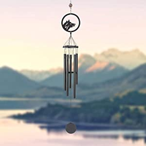 """N / A Z&L House Dog Wind Chime Hook for Indoor and Outdoor, 40.1"""" Garden Home Yard Hanging Decor, Elegant Chime for Garden Patio Balcony and Home Matte, Yard, Patio and Home Decoration."""