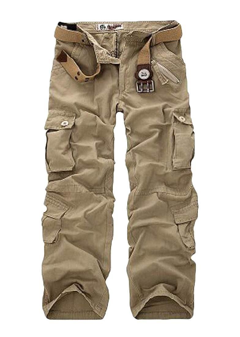 Nanquan Men Camouflage Workout Pocket Loose Multi-Pocket Pants
