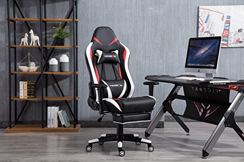Morfan Gaming Chair Executive Swivel Leather Racing Style