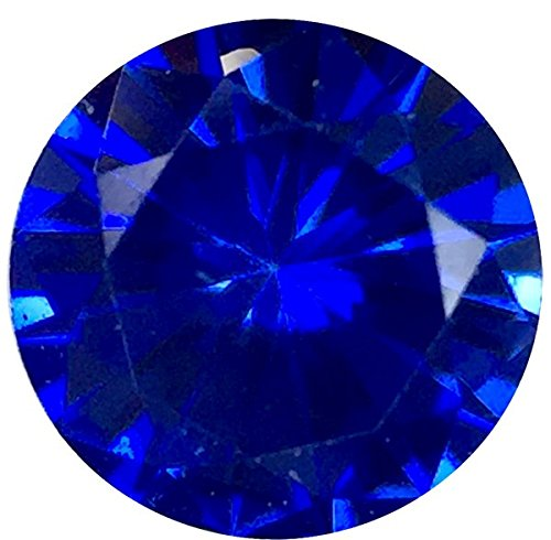 - Natural Precision Cut Blue Sapphire Gem, Round Shape, Grade AAA, 3.50 mm in Size, 0.2 Carats