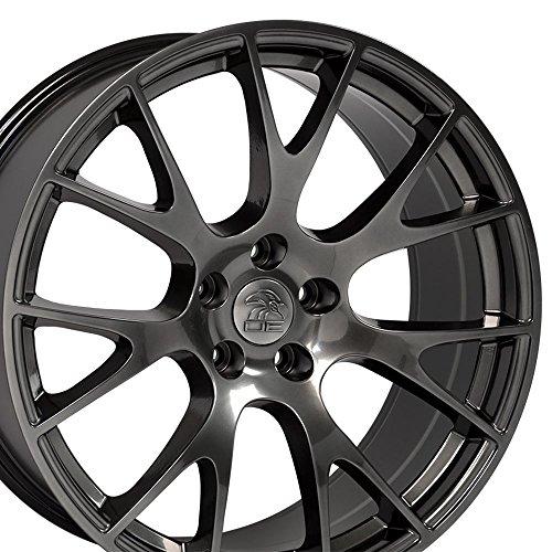 22x10 Wheels Fit Dodge, RAM - RAM Hellcat Style Hyper Black Rim - - Rim Different Styles