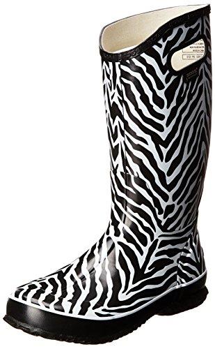 Bogs Women's Animal Print Rain Boot,Zebra Black/White,6 M US (Zebra Boots Print)