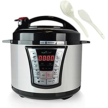 8 in 1 Electric Programmable  Pressure Cooker & Steamer  | Rice Cooker  | Slow Cooker ,  Stainless Steel   Adjustable Cook time Settings , Energy Efficient  Food cooker, Delay Start 5QT (PKPRC66)