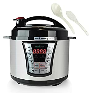 NutriChef 8 in 1 Electric Programmable  Pressure Cooker & Steamer  | Rice Cooker  | Slow Cooker : Fun to experiment with
