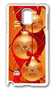 Adorable Chirstmas Balls Abstract Hard Case Protective Shell Cell Phone Samsung Galaxy Note4 - PC White