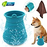 Idepet Dog Paw Cleaner Cup with Towel Pet Foot Washer Protable Dog...