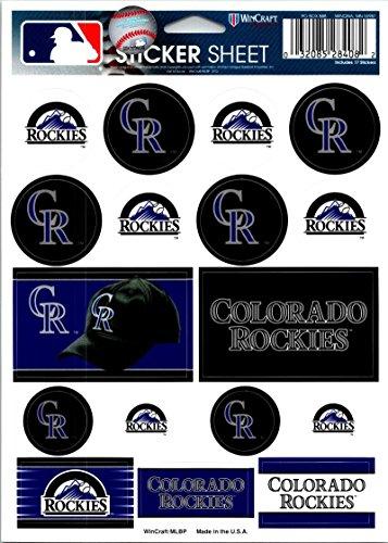 Colorado Rockies Collectibles ((HCW) Colorado Rockies Vinyl Sticker Sheet 5