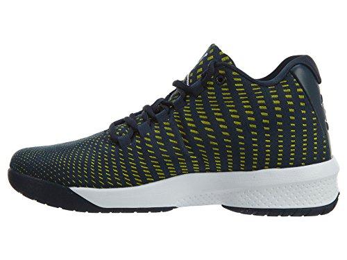 Jordan Nike Herren B. Fly Basketball Schuh Waffenkammer Navy / Weiß / Electrolime