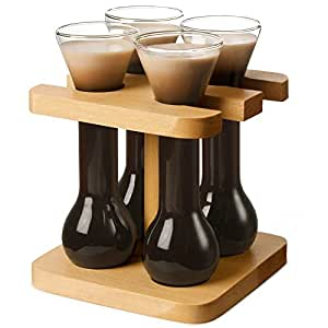Mini Yards of Ale with Stand | 50ml Shot Glasses by bar@drinkstuff, Novelty Shot Glasses