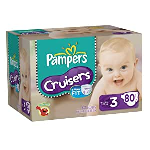 Pampers Cruisers Size 3 Diapers Big Pack, 80 Count (Packaging May Vary)