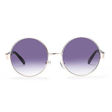 LUFA Rétro lunettes classique rondes lunettes de soleil polarisées GunFrame fMsr6rXie