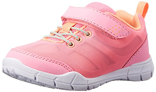 carter's Fleet2 G One Strap Athletic Shoe (Toddler/Little Kid), Neon Pink/Neon Orange, 7 M US Toddler