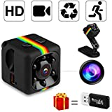 SpyCamera, MrLi HiddenCamera NannyCam MicroCamera 1080P/720P Wireless Small HD Super Portable Indoor Night Vision Motion Detection for Home Office and Car Surveillance