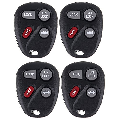 (ECCPP Replacement fit for Keyless Entry Remote Key Fob Buick/Chevy/ GMC/Pontiac/ Saturn/Oldsmobile/ Cadillac Escalade Series ABO1502T (Pack of 4))
