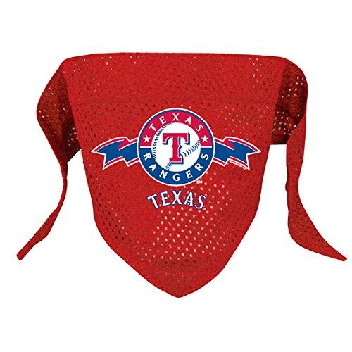 MLB Texas Rangers Pet Bandana, Large, Team Color