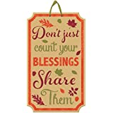 """Welcome Fall Thanksgiving Party Autumn Blessing Hanging Sign Decoration, Paper, 20"""" x 11"""""""