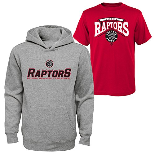 NBA Toronto Raptors Boys 8-20 Tee & Hoodie Set, Large , Assorted Color