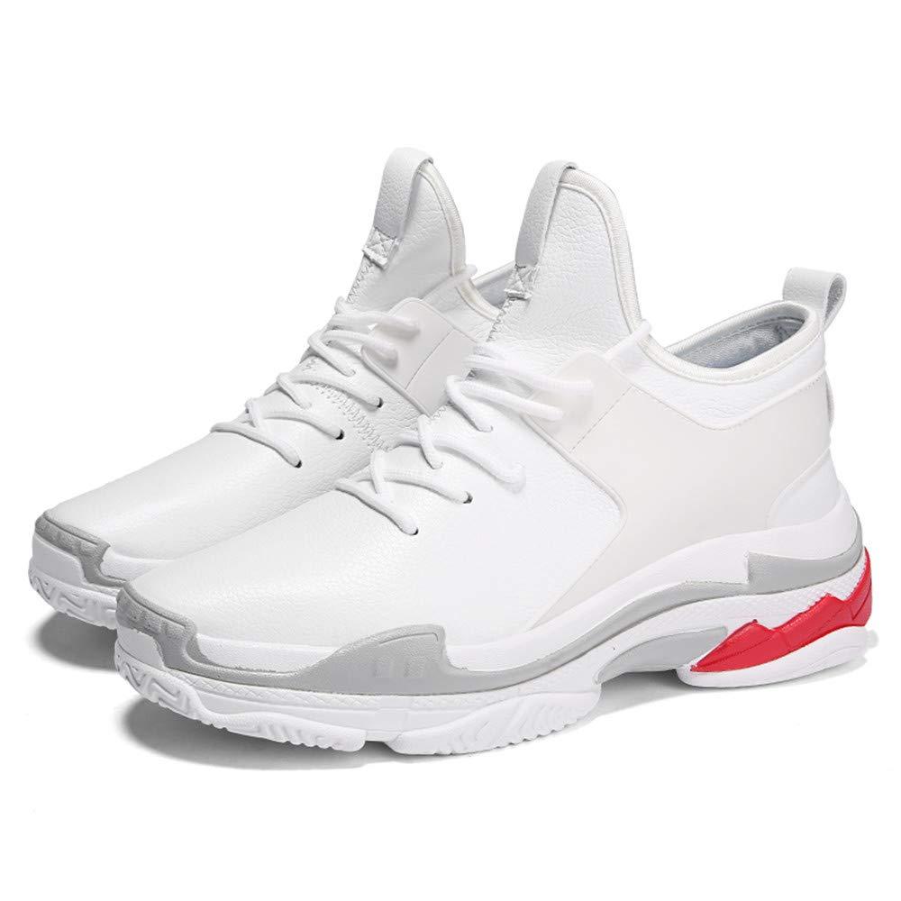 Zapatos De Los Los Los Hombres De Los Deportes Casuales De Malla Transpirable Grueso-Soled Zapatos De La Marea del Estudiante,Blanco,39 70f3a2