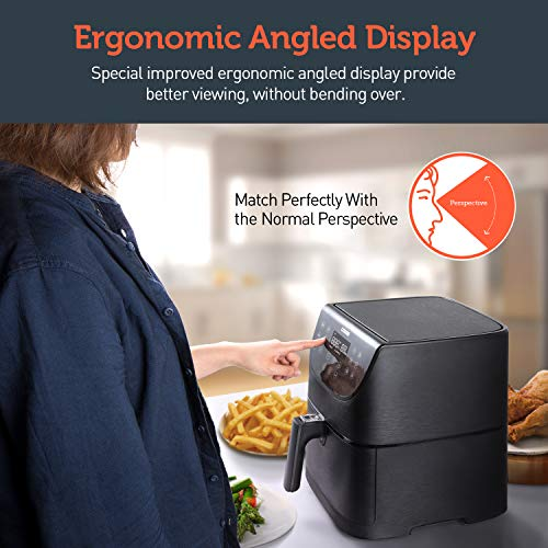 COSORI Air Fryer(100 Free Recipes Book), 1500-Watt Programmable Base for Air Frying, Roasting & Keep Warm, Electric Hot Oven Oilless Cooker,11 Cooking Presets, LED Touch Screen,2-Year Warranty, 3.7QT
