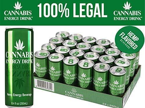 Cannabis Energy Drink Hemp Seed Extract Taurine Caffeine Vegan Gluten Free Beet Sugar Made With Spring Water 250ml X 24 Amazon Co Uk Grocery