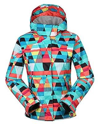 APTRO Women's High Windproof Technology Colorfull Printed Ski Jacket Wear
