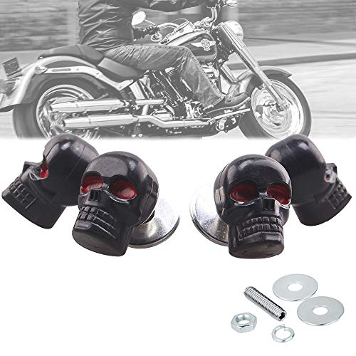 Heart Horse 6mm License Plate Tag Frame Windshield Trim Bolts Screws Fantastic Replacement Black Skull Red Eye 4PCS