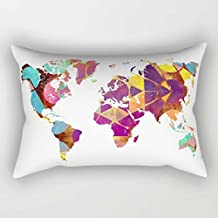 Geometry Pillow Covers 12 X 20 Inches / 30 By 50 Cm Gift Or Decor For Monther Outdoor Lounge Boys Home Office Chair - Both Sides