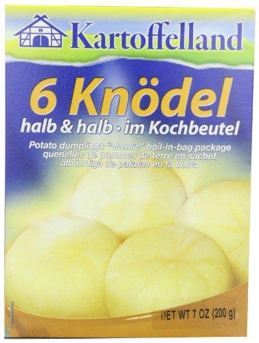 Kartoffelland 6 Knodel Halb & Halb (Half & Half Dumplings) in Cooking Bags, 7-Ounce Boxes (Pack of 7)