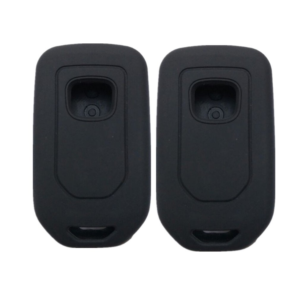 MJKEY Honda 4 Buttons Genuine Leather Keyless Entry Remote Control Smart Key Case Fob Cover protector Bag For Honda Civic Accord CR-V CR-Z HR-V Pilot ACJ932HK1210A