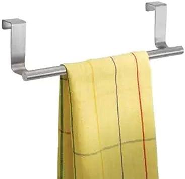Amazon Com Bluelans Over Kitchen Cabinet Door Tea Hand Towel Rail Rack Holder Hanger Storage 36cm Kitchen Dining