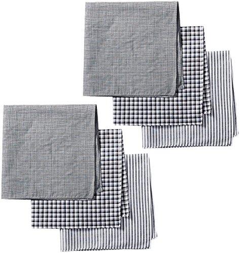 (Dockers Men's 6 Piece Hankie Fashion Pack,Black Assorted,One Size)