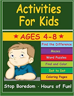 Activities For Kids Activity Book For Kids Ages 4 8 Kids Learn