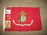 Embroidered Sewn 2X3 Usmc Marines Marine Corps Cotton Flag Double Sided Banner