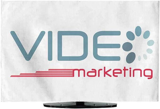 Funda de TV Icono de Letras de Marketing de vídeo: Amazon.es ...
