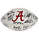Alabama Crimson Tide Team Autographed White Panel Football - Without Nick Saban - Certified Authentic