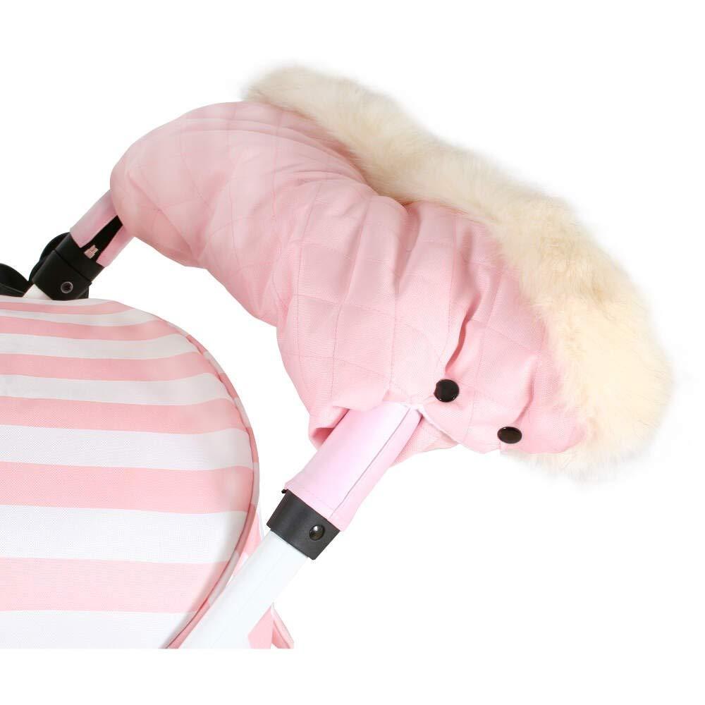 Baby Pink My Babiie Fur Trimmed Pushchair Handmuff