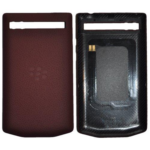 Porsche Design Leather Battery Door Cover Pomegranate Burgundy for P9983 Porsche Design BlackBerry P'9983