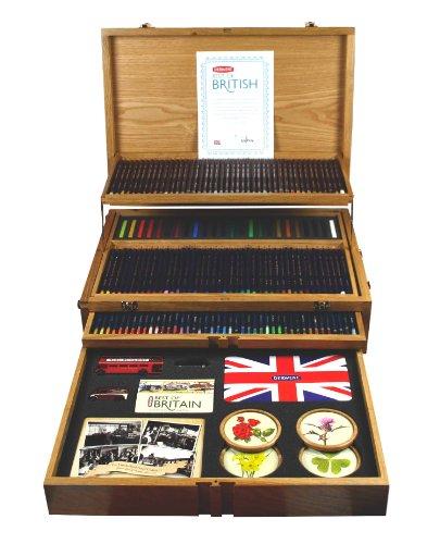 Derwent Best of British Wooden Box, 165 Fine Art Pencils and Accessories (2300674) by Derwent