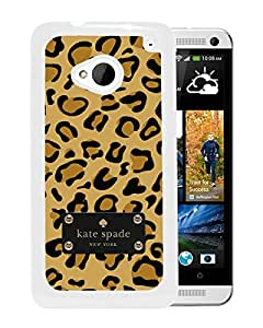 Fashionable And Unique Designed Kate Spade Cover Case For HTC ONE M7 White Phone Case 66
