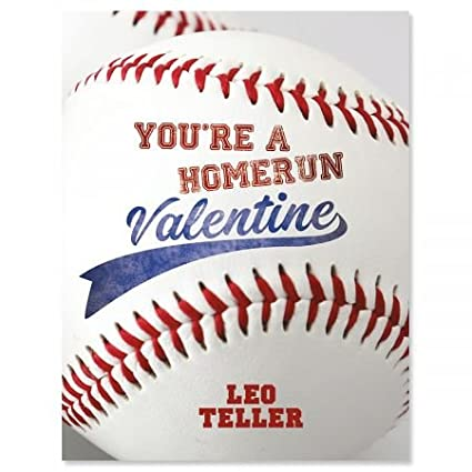 Personalized Baseball Valentines Set Of 24 4 14 X 5 12 Kids Valentine Cards Kids Valentine Cards Boys Sports Classroom Valentines