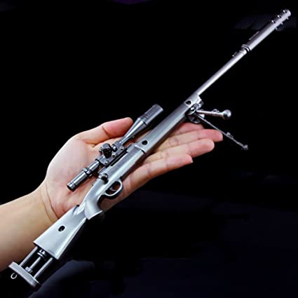 Amyove Playset Game Props Alloy Sniper Rifle Armor Model Best Gift For Kids M Large