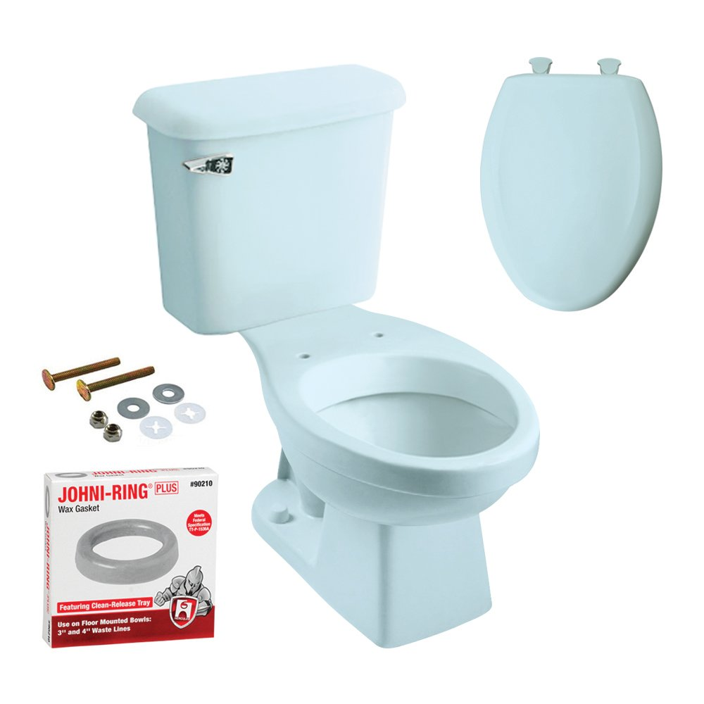 Peerless Pottery K-7660-12 Hancock Elongated Toilet Kit with Seat by Peerless Pottery