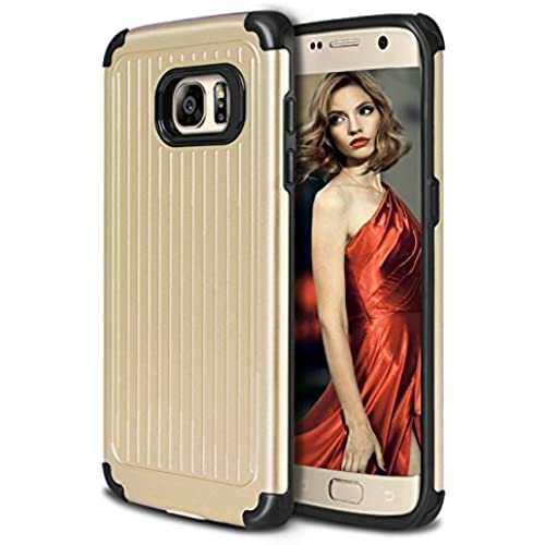 Galaxy S7 Case, Coolden Heavy Duty Galaxy S7 Case Protective Bumper Cover Shock Proof Grip Cover Slim Fits Shell for Galaxy S7 - Gold Sales