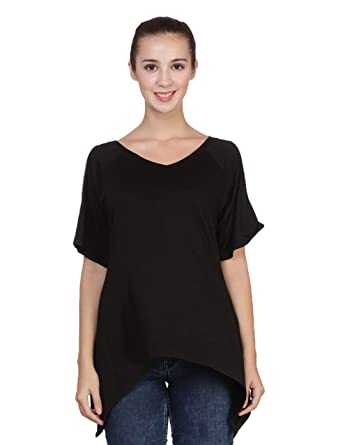 a4191a245db629 Parinda Cut Solid Hole Shoulder Top  Amazon.in  Clothing   Accessories